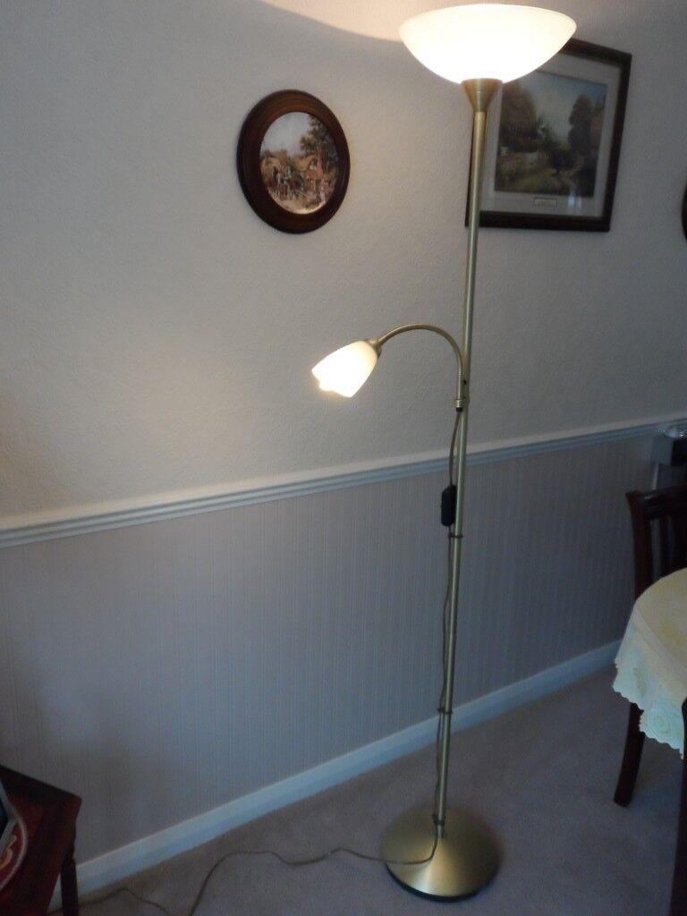Floor Up Lighter With Flexible Reading Lamp In Christchurch Dorset Gumtree