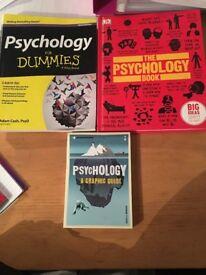 3 Psychology Books £15