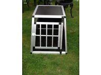 Aluminium light weight dog crate medium size plastic corners to save injury like new cb5 £45