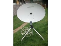 MAXVIEW OMINISTAT PORTABLE SATELLITE DISH