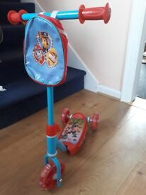 Paw Patrol Scooter - Excellent Condition