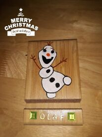 OLAF PHONE & IPAD STAND WITH WIGGLY EYES