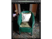 Lloyd loom chair with cushions