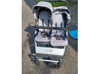 Mountain buggy duet with carrycot module / double pram side-by-side