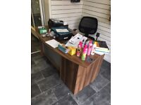 Office Desk and Swivel Chair
