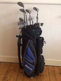 Golf Clubs Left handed Set, Taylormade and Prima selection with Wilson Bag £100