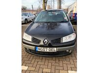 Black Renault Megane Dynamique with Automatic Transmission and Multifunctional steering wheel.