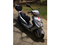 2007 YAMAHA NXC 125 CYGNUS X SILVER, TOP BOX INCLUDED COMES WITH 2 SET OF KEYS