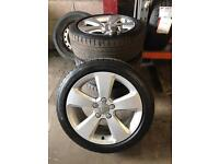 17 inch Genuine Audi alloys with great tyres.