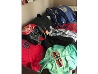 SUPERDRY: ladies hoodies, cargo pants, belt and t' shirts size small and medium. fits 8 to 10