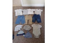 0-3 months baby boys bundle of clothes