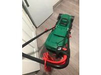 Qualcast 1200w electric rotary lawnmower hardly used in excellent condition