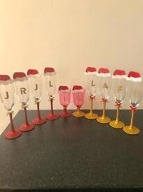Christmas dinner glasses