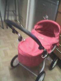 silver cross kids play pram pink like new used once cost 50 pound