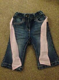 Next baby girls jeans. 3-6 months