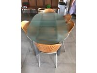 6 seater dining table with 5 chairs
