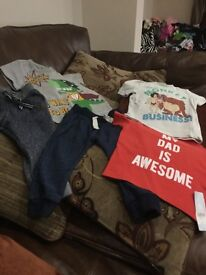 3 tee shirts 12-18 months/ 2 pairs jogging bottoms 12-18 months and 18-24 months