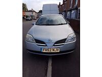 NISSAN PRIMERA 1.8. YEAR 2002. A/C, FRONT WINDOWS ELECTIC, CENTRAL LOCKING.