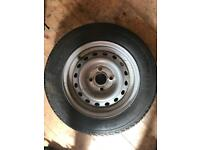 3 x Trailer wheels and tyres