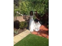 Beautiful French wedding dress - size 8 /10 - selling at very reasonable price to good home