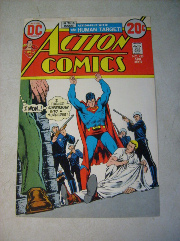 ACTION #423 COVER ART, original approval cover proof 1970
