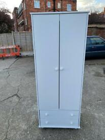 🚚🚚🚚✅✅✅Beautiful White Wardrobe With Two Drawers For Sale Free Delivery Radius Apply ✅✅✅