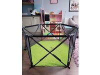 Lightweight and spacious playpen - in pristine condition!