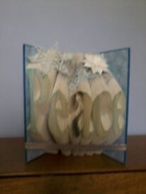 Christmas Peace book sculpture