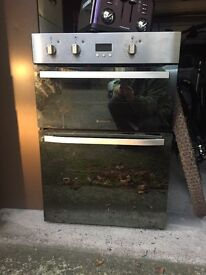 Hotpoint integrated stainlesss steel double oven