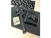 Xbox 360 with guitar hero