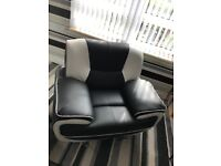 Leather 3 Seater and 2 Leather Chairs
