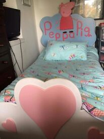 Hand made Peppa Pig Bed. Lovely girls first bed.