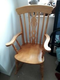 Free!! Solid wood rocking chair