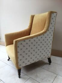 Stunning bespoke re-upholstered arm / armchair