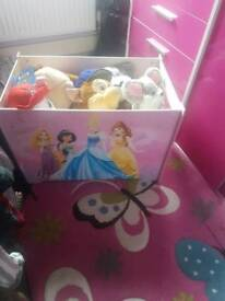 princess toy box filled with teddys
