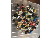 LEGO mini figures (including chrome storm trooper) plus numerous spares