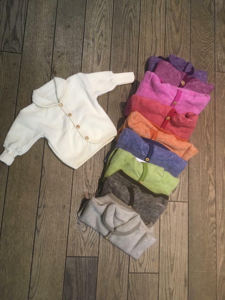 Cosilana Wollfeece Jacke ohne Kapuze verschiedene Farben und Größen