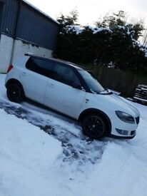 Skoda Fabia Monte Carlo TDI CR, 5 Door Hatchback, very low miles, immaculate condition, White
