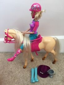 Barbie With Horse, Sports Car & Accessories