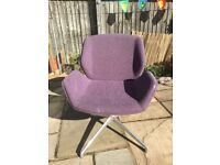 Contemporary and Stylish - Boss Kruze Swivel Chair - in lovely condition - Purple