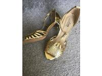 Gold Heels Size 6/30