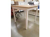 LERHAMN Table, light antique stain/white stain 74x74 cm, IKEA MILTON KEYNES #bargaincorner