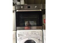 BEKO built in electric fan oven 60 cm width stainless steel in good condition & fully working order