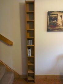 Oak finish CD/DVD rack