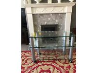 TV UNIT (tempered glass) Excellent Condition