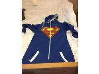 Adult small superman onesie