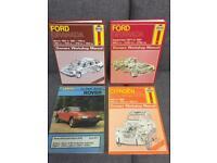 Rare HAYNES MANUALS - Ford Granada Citroen 2CV Rover 2000 70s 80s vintage retro Car Books Bargain