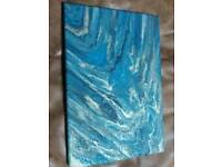 30 x 20cm hand painted acrylic abstract painting