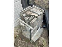 Reclaimed welsh limestone slabs