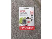128GB Micro SD Card. XPANDISK Ultra Pro Micro SDXC UHS-I Card With Adapter.